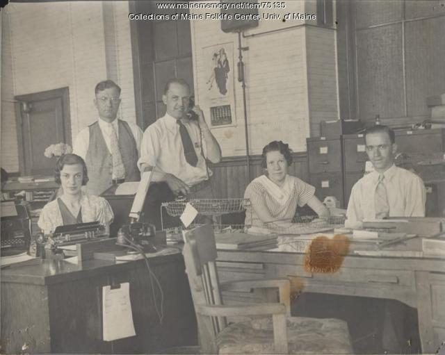 Office workers at Eastern, Brewer, ca. 1938