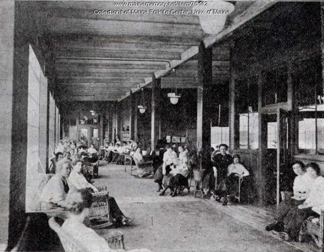 Reading room at Eastern Fine, Brewer, 1919