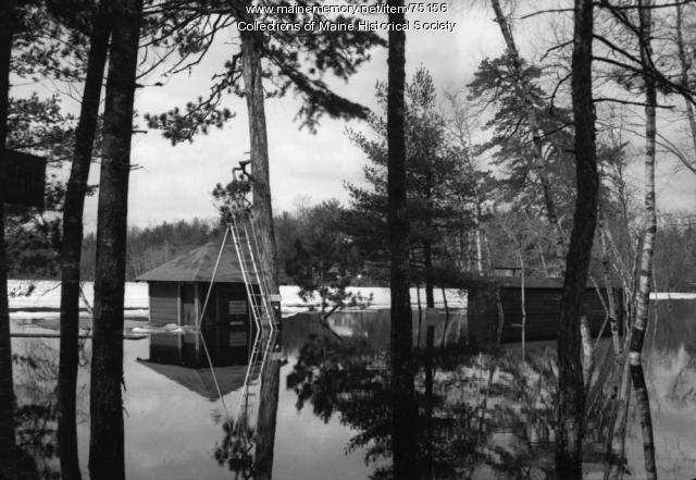 Reflection on flood waters, ca. 1920
