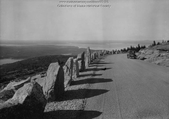 Cadillac Mountain Road, Acadia National Park, ca. 1940