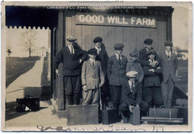 Good Will Farm Train Station, Fairfield, 1917