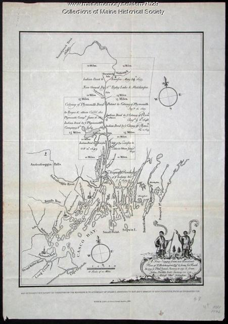 Map of Plymouth's patent of territory on the Kennebeck
