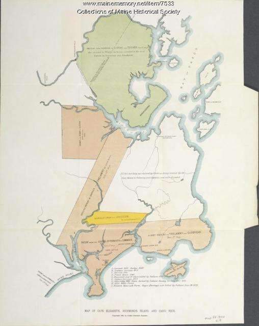 Map of Cape Elizabeth, Richmond Island area, 1884