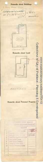 54-58 Sherman Street, Portland, 1924