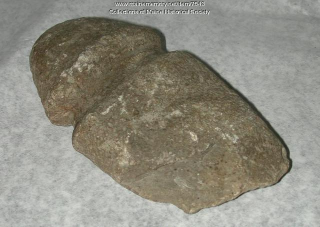 Native American grooved axe head