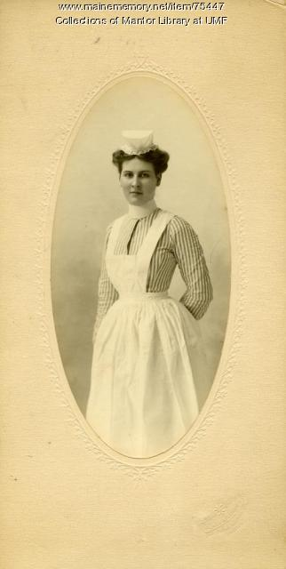 Home Economics student, Farmington State Normal School, ca. 1899