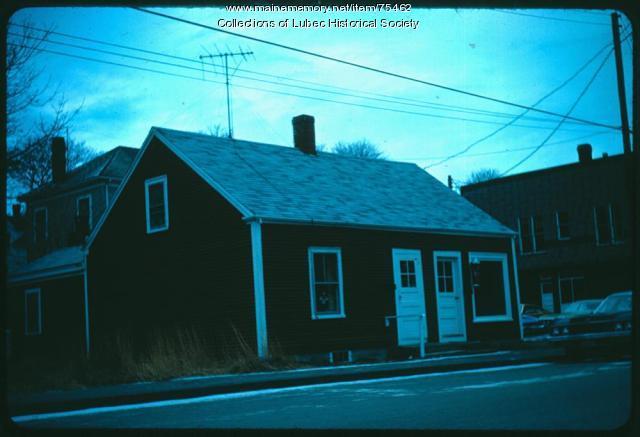 Cheney Barber Shop, Lubec, 1975