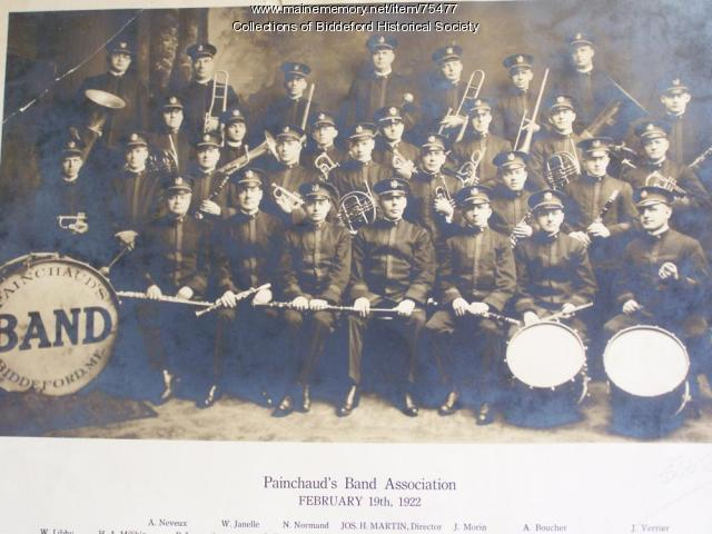 Painchaud Band, Biddeford, 1922
