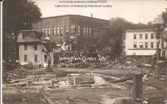 Fire at Harmon's corner, 1911