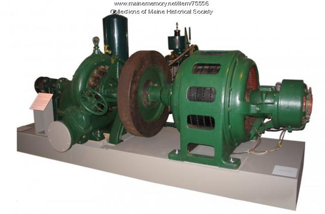 Hydro turbine and electric generator, 1904