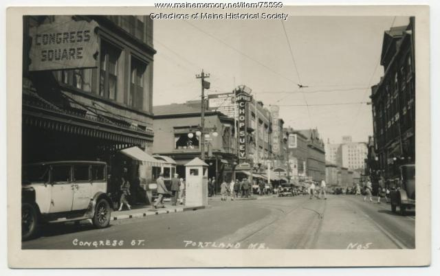 Congress Street at Forest Avenue, Portland, ca. 1933