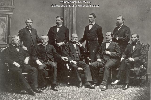Maine General Hospital medical staff, Portland, ca. 1874