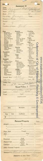 Assessor's Record, 132-144 State Street, Portland, 1924