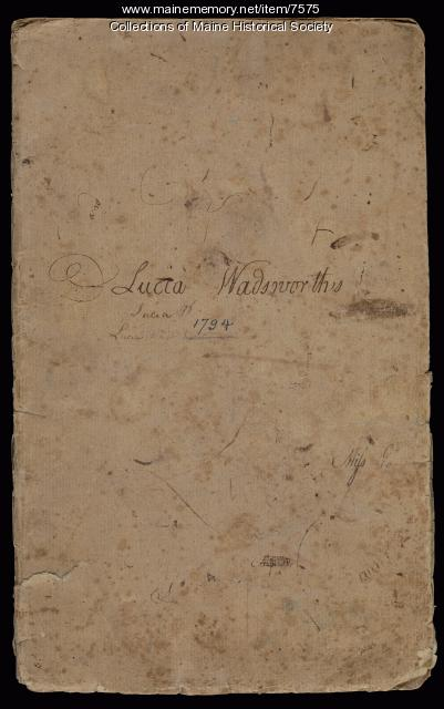 Lucia Wadsworth's Geometry and Geography School Book, 1794