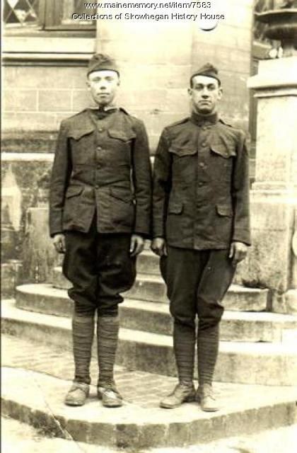 Skowhegan Doughboys in France, 1918, WW I