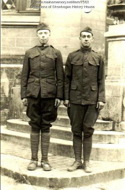 Skowhegan Doughboys in France, 1918, WW I