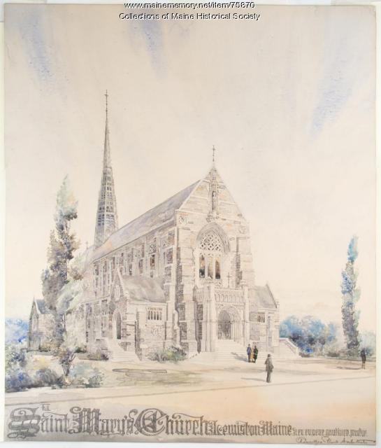 St. Mary's Church, Lewiston, ca. 1925