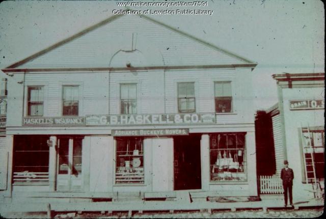 B. Haskell Grain store, Main Street, Lewiston