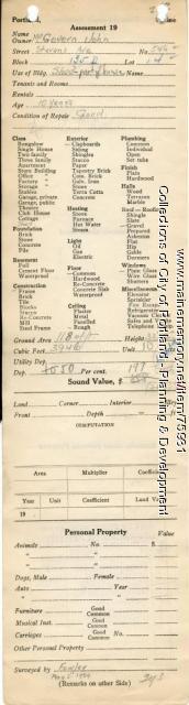Assessor's Record, 544-548 Stevens Avenue, Portland, 1924
