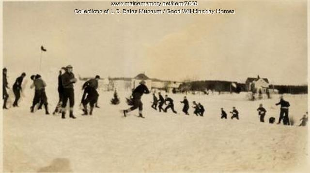 Snowball fight, Good Will Homes, ca. 1919