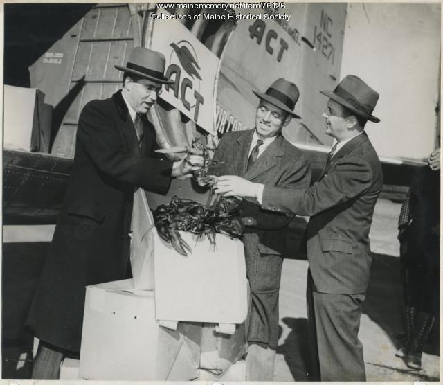 Gov. Hildreth with Air Cargo Transport, 1946