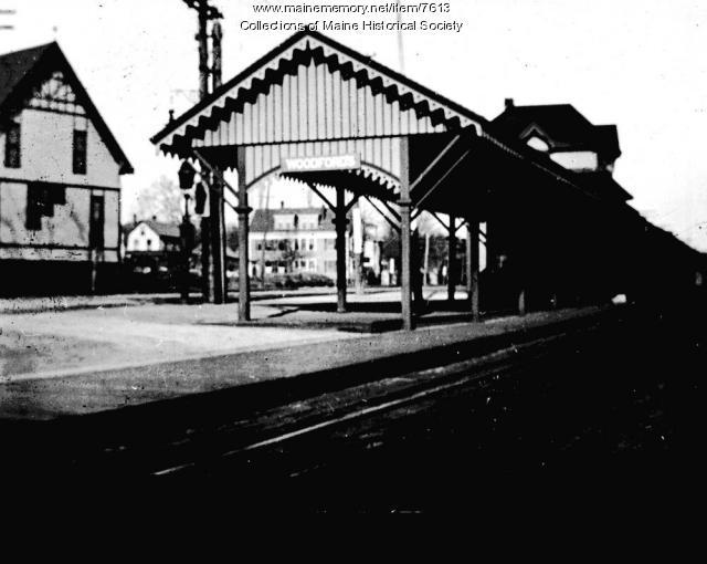 Railroad station, Woodfords Corner, Portland, 1911