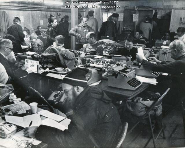 1971 Sugarloaf World Cup press room