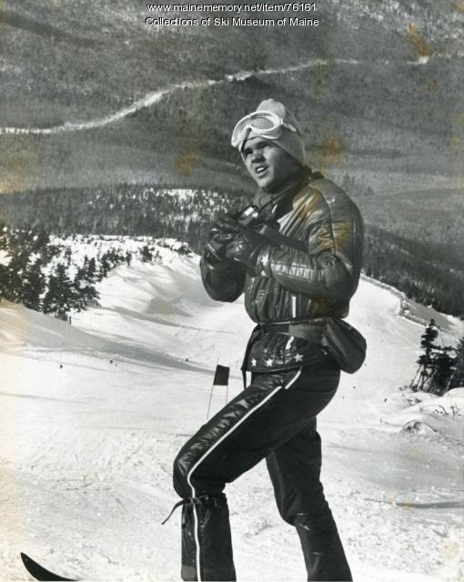 Ski Team official at the Sugarloaf World Cup, 1971
