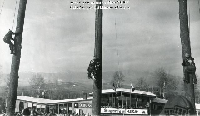 Climbing Flagpoles, Sugarloaf, 1971