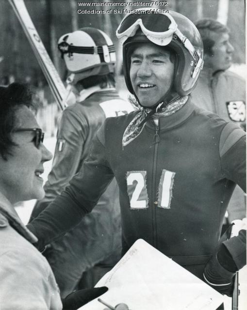 U.S. racer at finish, Sugarloaf, 1971