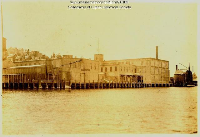 American Can Company factory, Lubec, ca 1920