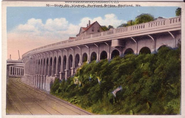 State Street Viaduct, Portland Bridge, ca. 1900