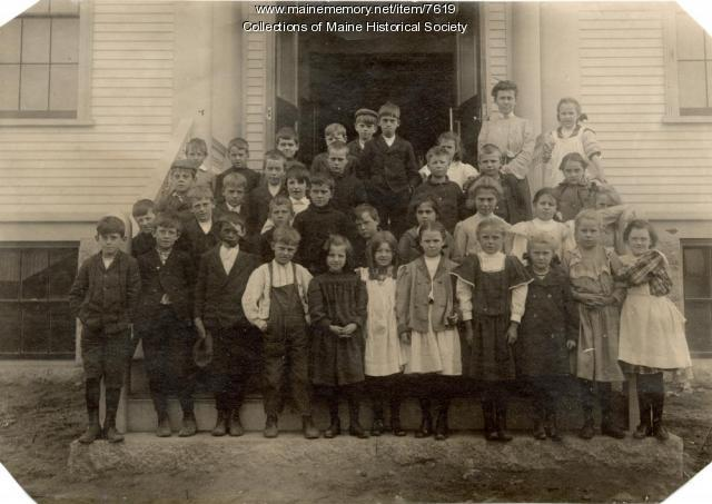 School children, Stonington