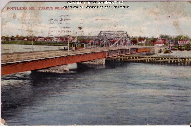 Tukey's Bridge, Portland, ca. 1908