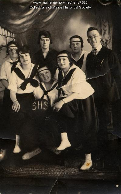 Stonington High School girls' basketball, ca.1920