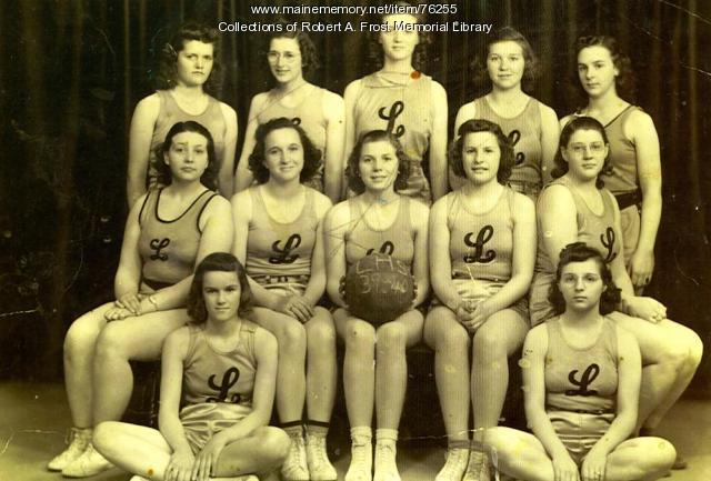 Limestone High School girls basketball team, ca. 1939