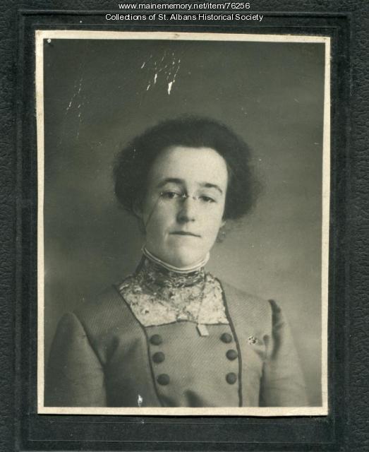 Agnes Irene Libby, St. Albans, ca. 1925