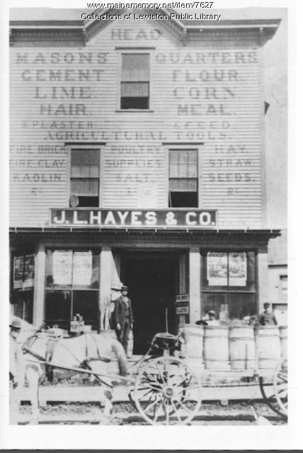 J.L. Hayes & Co. Building, Lewiston, ca. 1880
