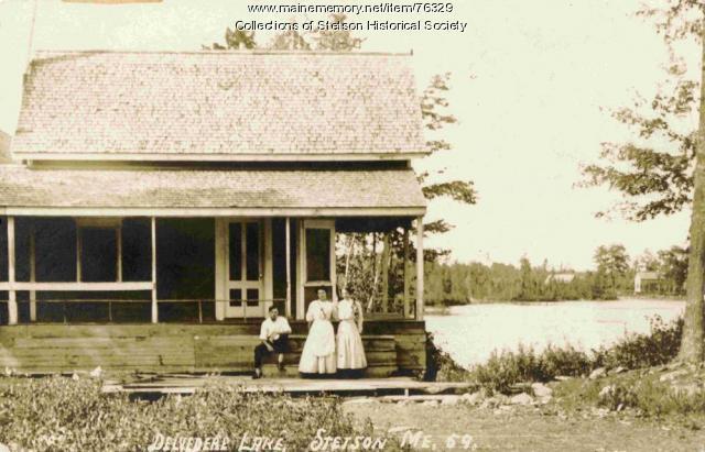 Hartwell's Landing on Pleasant Lake, Stetson, ca. 1909