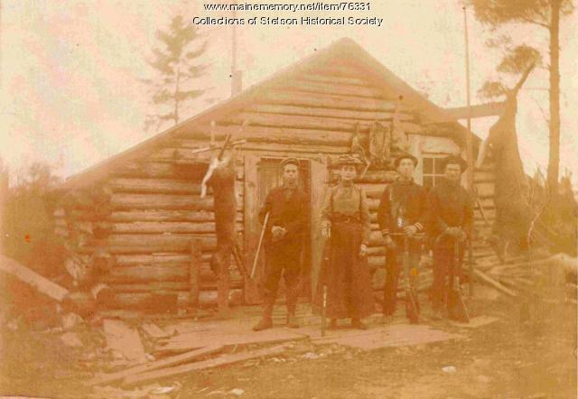 Maine hunting camp, ca. 1900