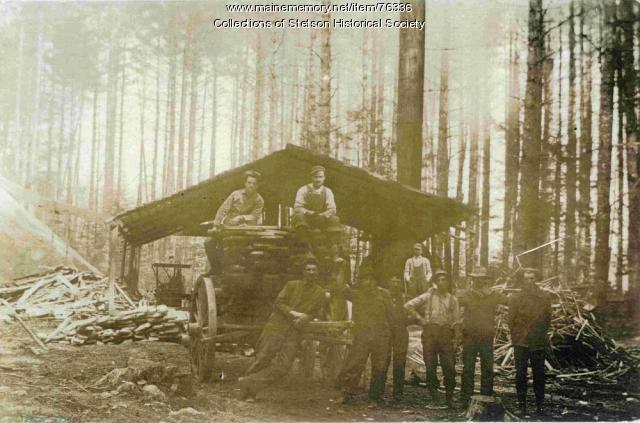 Portable sawmill, Pleasant Lake, ca. 1910