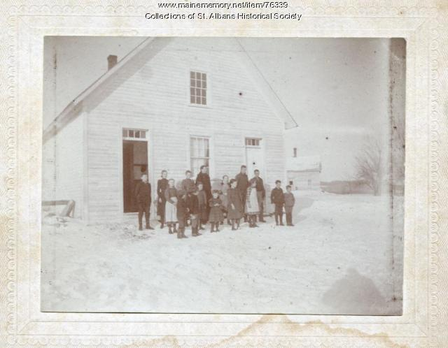 Five Corners School, St. Albans, ca. 1900