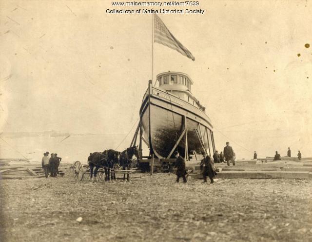 Tug on the ways, Portland, ca. 1900