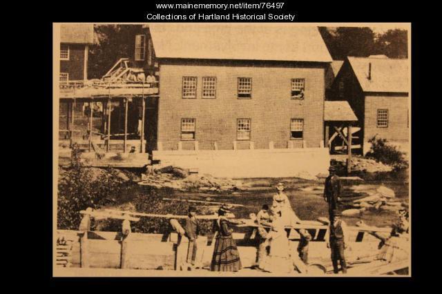 Train Boat Landing, Hartland, 1870
