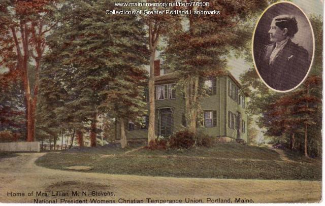 Home of Mrs. Lillian M.W. Stevens, Portland, ca. 1910