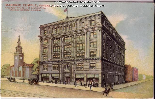 Masonic Temple in Portland, ca. 1910