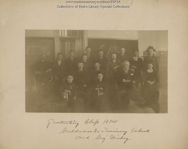 Madawaska Training School Class of 1894, Fort Kent, ca. 1894