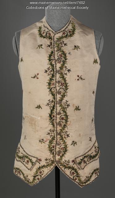 Waistcoat belonging to Samuel Freeman, c. 1786