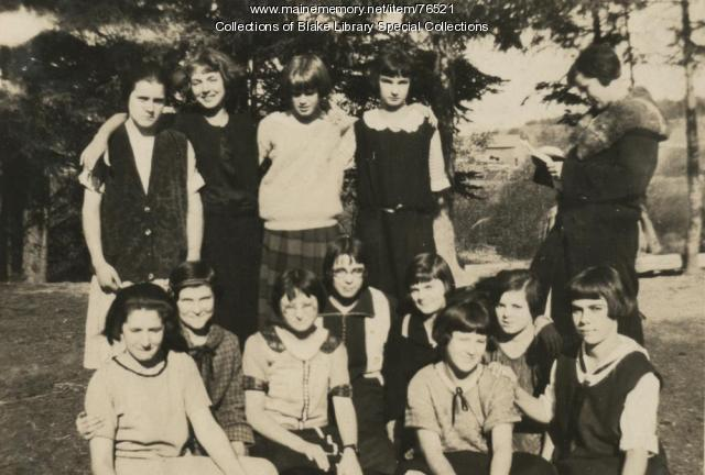 Madawaska Training School students, Fort Kent, 1924