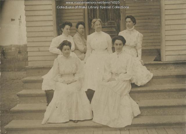 Madawaska Training School faculty, Fort Kent, 1909